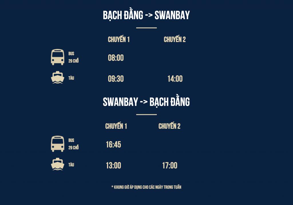 Lịch đăng ký đi SwanBay